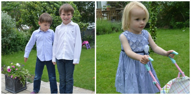 All the children dressed up in their finery. I had to bribe the boys to wear shirts!