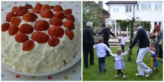 I made a traditional strawberry cake and we all danced around the midsummer pole. I'm sure the neighbours think we're mad!