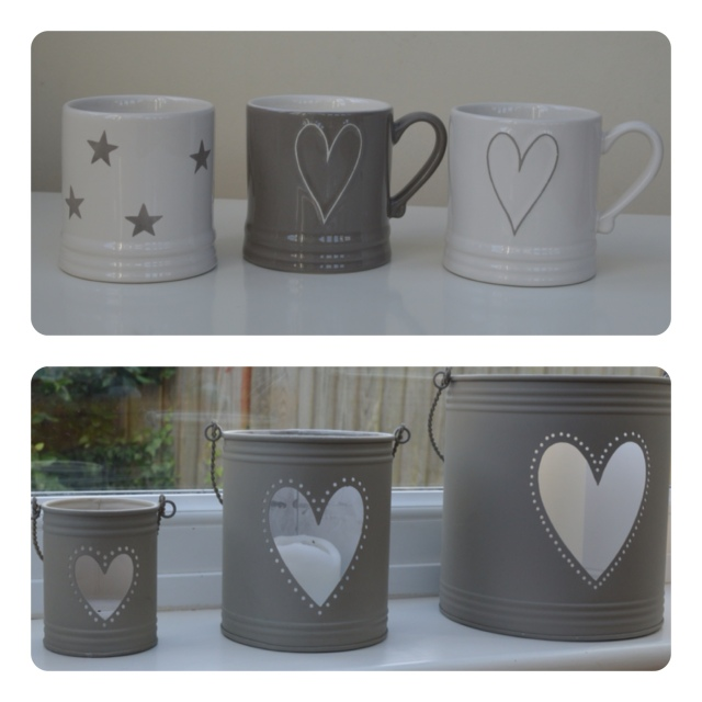 I love my coffee mugs and lanterns in white & taupe from Nordic House