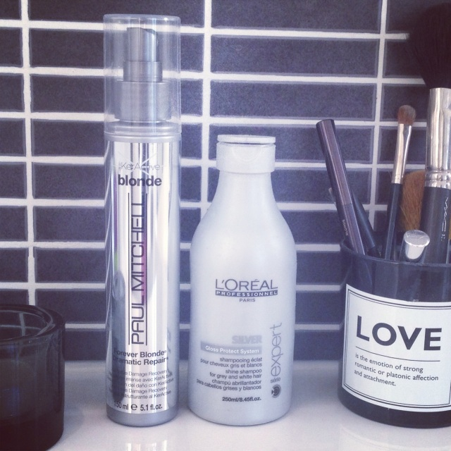 {Two of my favourite hair products for keeping those highlights gleaming: Paul Mitchell 'Blonde'
