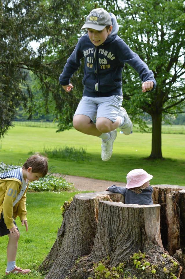 Cameron jumping
